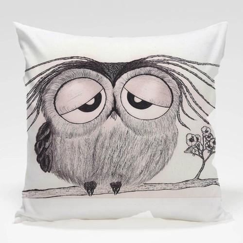 Dekorjinal Baykuş Yastık Kılıfı OWL078