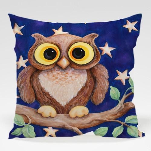 Dekorjinal Baykuş Yastık Kılıfı OWL075