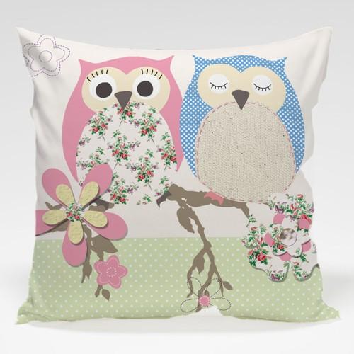 Dekorjinal Baykuş Yastık Kılıfı OWL036