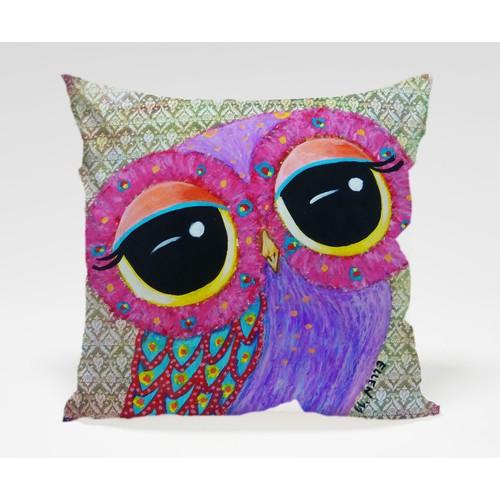 Dekorjinal Baykuş Yastık Kılıfı OWL020