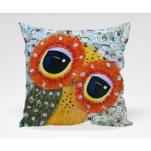 Dekorjinal Baykuş Yastık Kılıfı OWL017
