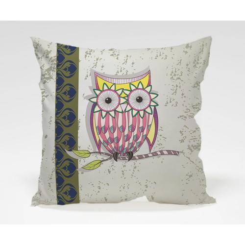 Dekorjinal Baykuş Yastık Kılıfı OWL061