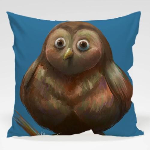 Dekorjinal Baykuş Yastık Kılıfı OWL053