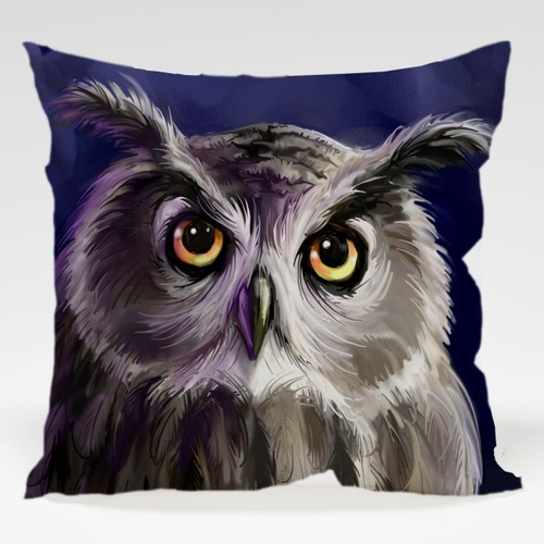 Dekorjinal Baykuş Yastık Kılıfı OWL047