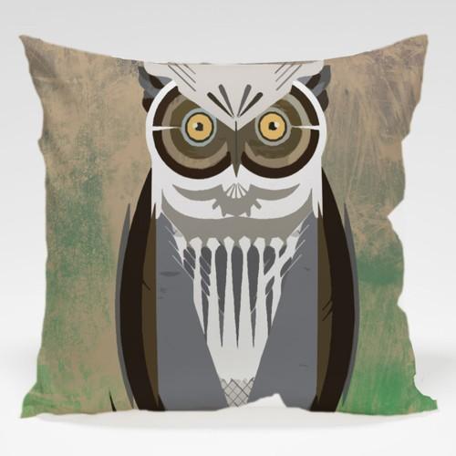 Dekorjinal Baykuş Yastık Kılıfı OWL040