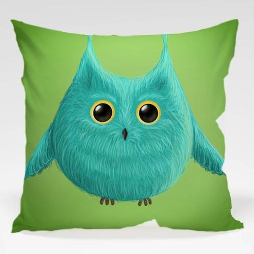 Dekorjinal Baykuş Yastık Kılıfı OWL035