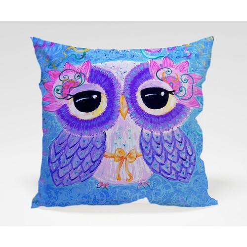 Dekorjinal Baykuş Yastık Kılıfı OWL024