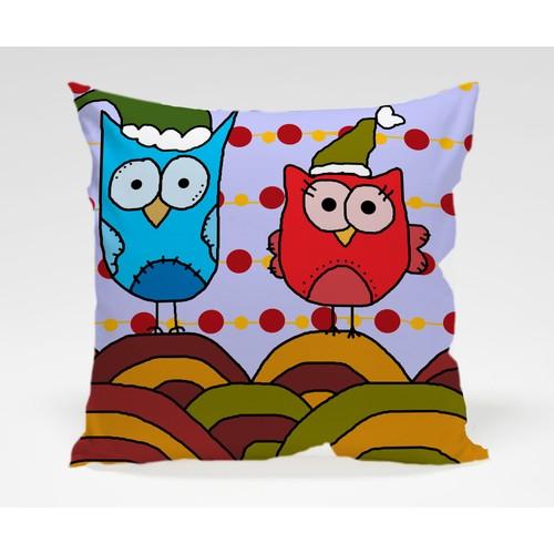 Dekorjinal Baykuş Yastık Kılıfı OWL014