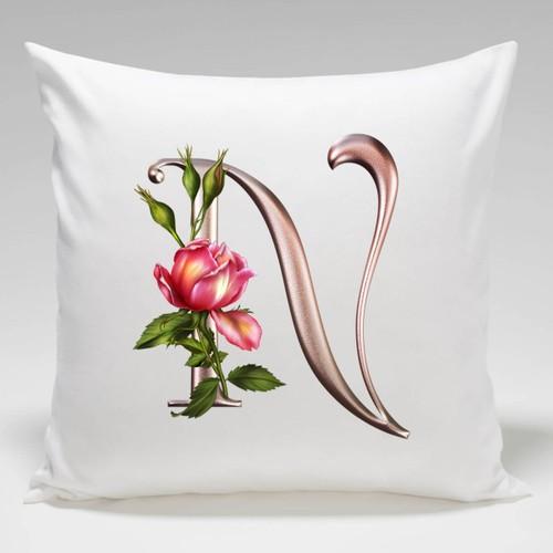 Dekorjinal Harf Dekoratif Yastık Kılıfı SEYN