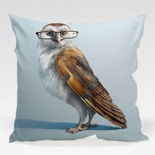Dekorjinal Baykuş Yastık Kılıfı OWL093