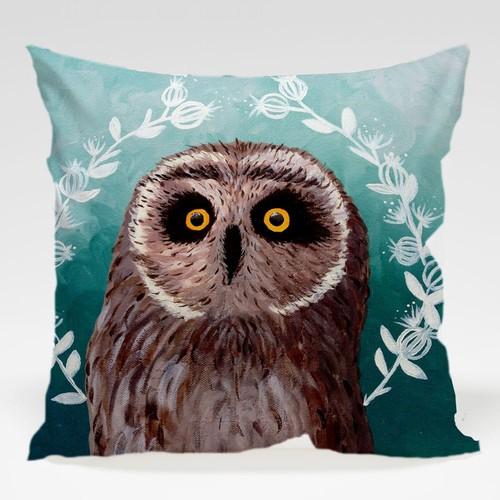 Dekorjinal Baykuş Yastık Kılıfı OWL070