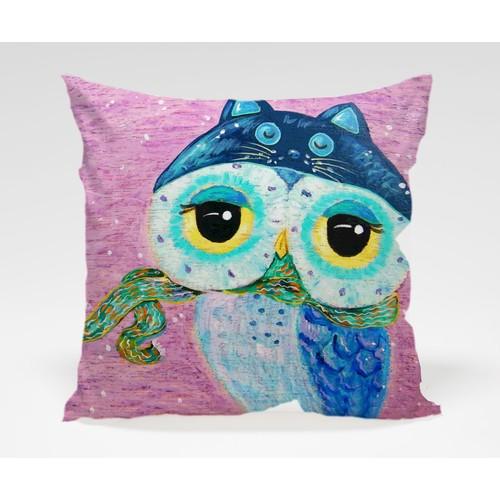 Dekorjinal Baykuş Yastık Kılıfı OWL028