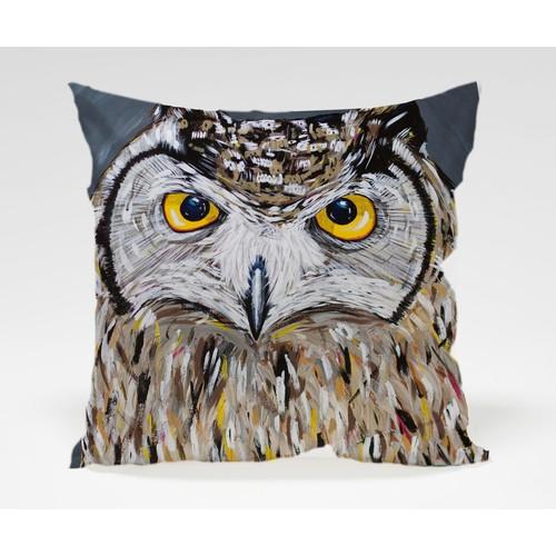 Dekorjinal Baykuş Yastık Kılıfı OWL018