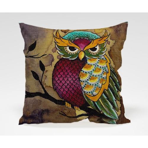 Dekorjinal Baykuş Yastık Kılıfı OWL006