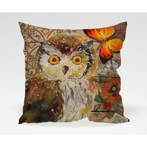 Dekorjinal Baykuş Yastık Kılıfı OWL003