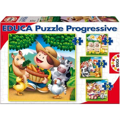 Educa Çocuk Puzzle Karton 6-9-12-16 Hayvanlar
