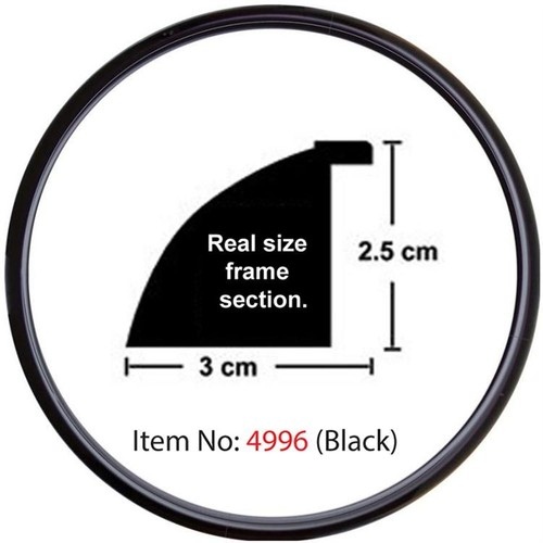Educa Heidi Daire Çerçeve Siyah 3cm 4996