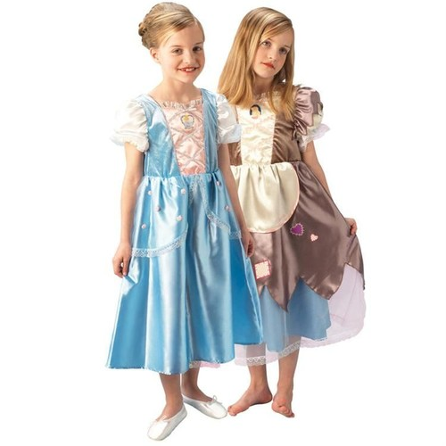 Prenses Cinderella Çocuk Kostüm Platinium 5-6 Yaş