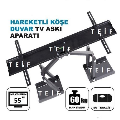 Teif 55'' Terazili Lcd / Led Tv Köşe Ve Duvar Tipi Askı Aparatı
