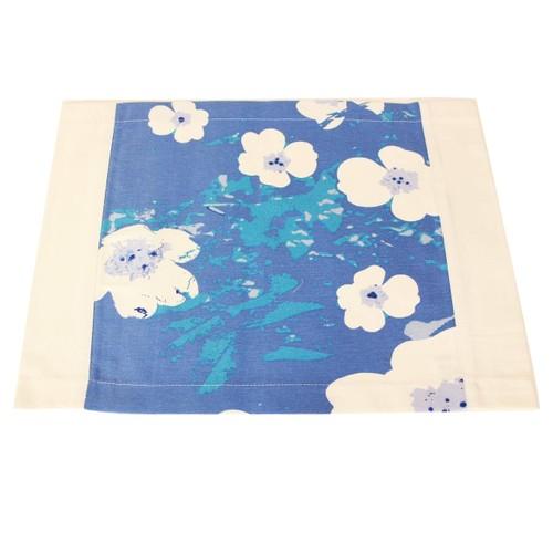 YastıkMinder Mavi Çiçekler Amerikan Servisi
