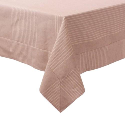 YastıkMinder İnce Çizgi Desenli Dikdörtgen Masa Örtüsü - 160x220 cm