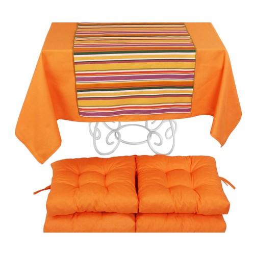 YastıkMinder Koton Oranj ( 2) 4 Lü Minder Seti - 150x150 cm