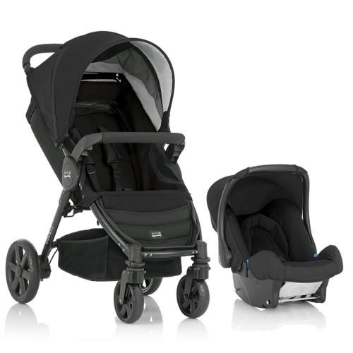 Britax B-Agile Travel Set (Bebek Arabası Black Thunder + Baby Safe Plus II Ana kucağı - Oto Koltuğu) / Siyah