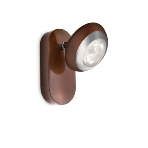 Philips Sepıa Single Spot Led Brown 1X4W Selv