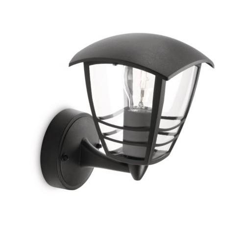 Philips Creek Wall Lantern Black 1X60W 230V