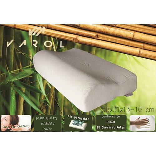 Varol Bambu Yastık Kılıflı Visco Yastık Büyük Boy