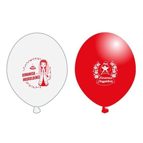 Tahtakale Toptancısı Balon 1+1 Kınamıza Hoşgeldiniz Baskılı (20 Adet)