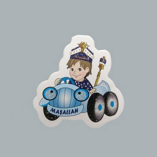Tahtakale Toptancısı Sticker Sünnet Çocuğu Mavi Arabada (50 Adet)