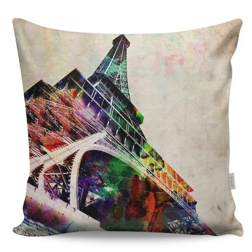 Gravel Dekoratif Renkli Baskılı Yastık - Paris