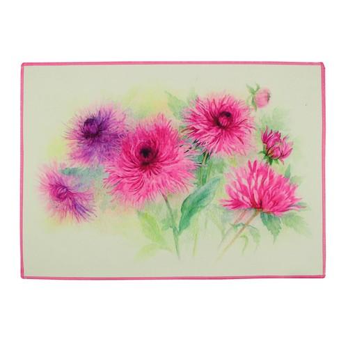 Gravel Pembe Çiçek Amerikan Servisi - Beyaz