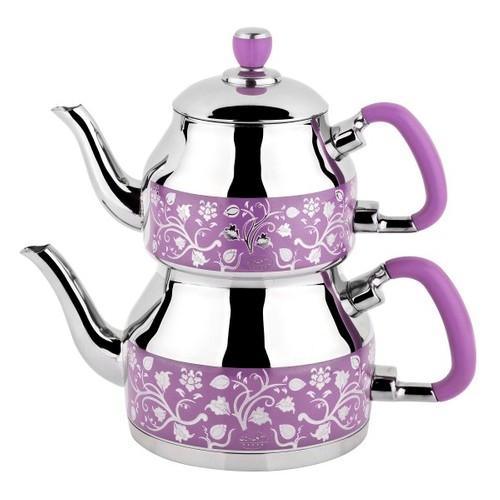 Özkent 333 Symbol Mini Desenli Çaydanlık Lila