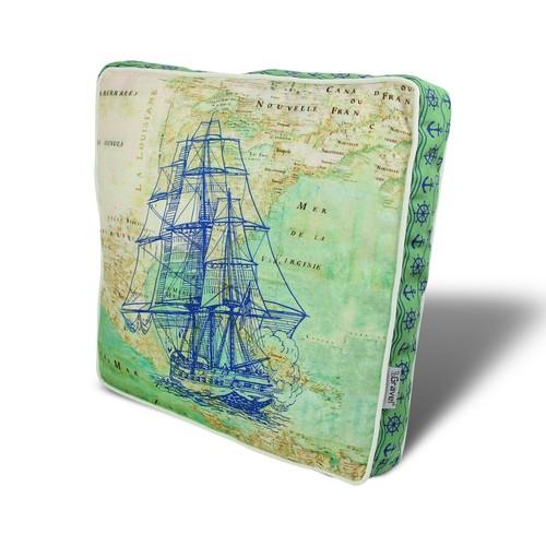 Gravel Gemi Temalı Çok Amaçlı Yastık - Minder
