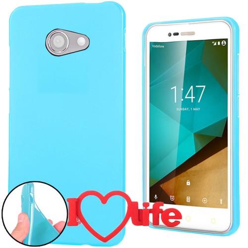 CoverZone Vodafone Smart Ultra 7 Kılıf Silikon Mavi + 3d Araç Kokusu