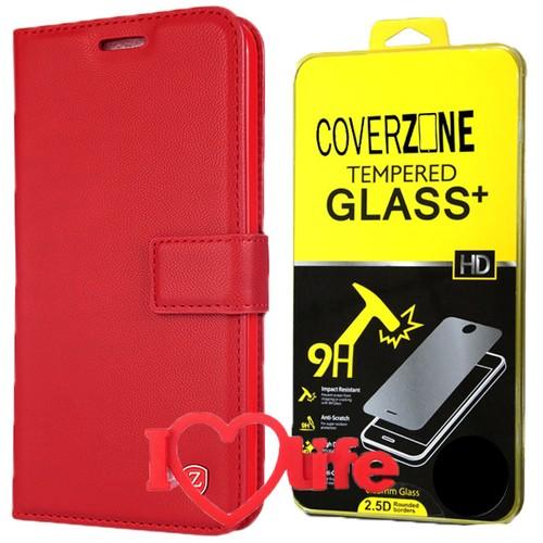 CoverZone Samsung Galaxy A7 2016 A710 Kılıf Kartvizitli Kırmızı + + 3d Araç Kokusu