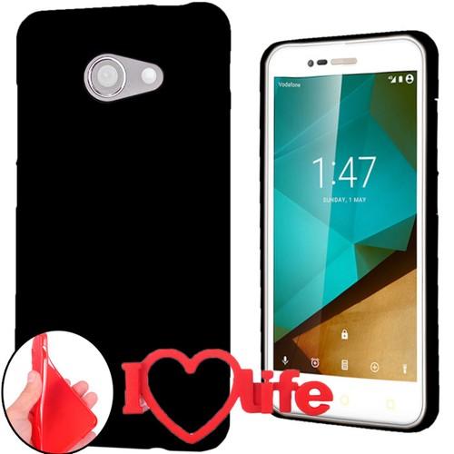 CoverZone Vodafone Smart Ultra 7 Kılıf Silikon Siyah + 3d Araç Kokusu