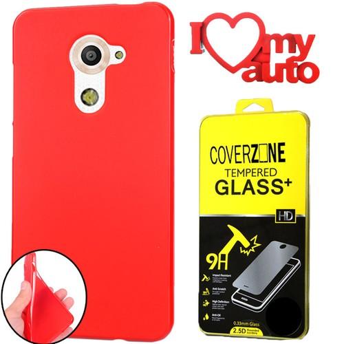 CoverZone Vodafone Smart Pro 7 Kılıf Silikon Kırmızı + + 3d Araç Kokusu