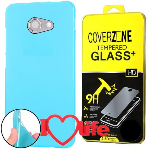 CoverZone Vodafone Smart Ultra 7 Kılıf Silikon Mavi + + 3d Araç Kokusu