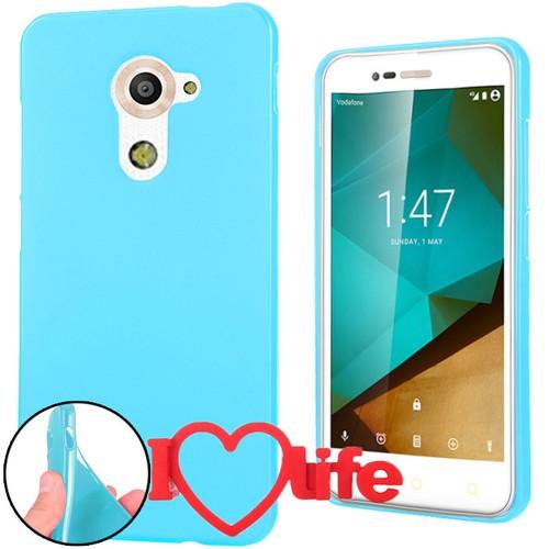 CoverZone Vodafone Smart Pro 7 Kılıf Silikon Mavi + 3d Araç Kokusu