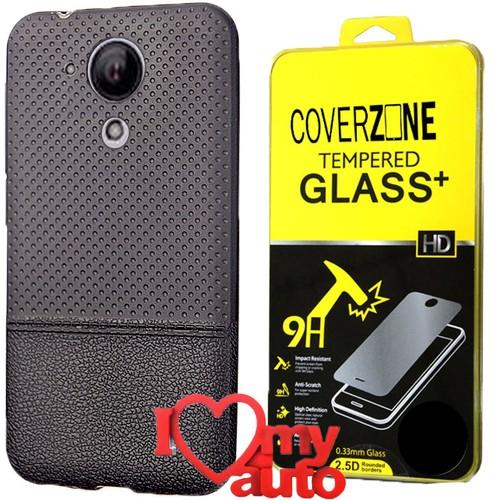 CoverZone Casper Via E1 Kılıf Dot Silikon Siyah + Kırılmaz Cam + 3d Araç Kokusu