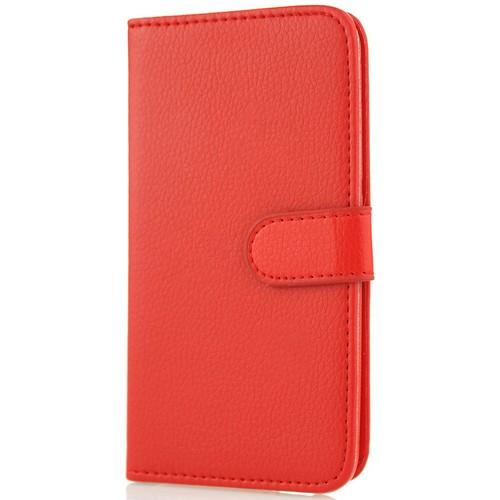 CoverZone Sony Xperia Z Ultra Kılıf Cüzdan Kapaklı Kırmızı