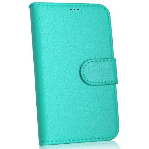 CoverZone Nokia X Kılıf Cüzdan Yan Kapaklı Turkuaz
