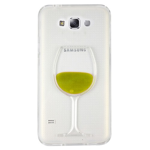 CoverZone Samsung Galaxy E7 Kılıf Silikon Kadeh Sarı