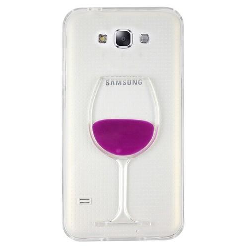 CoverZone Samsung Galaxy E7 Kılıf Silikon Kadeh Pembe
