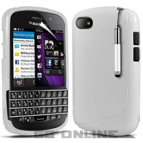 CoverZone BlackBerry Q5 Kılıf Silikon Beyaz