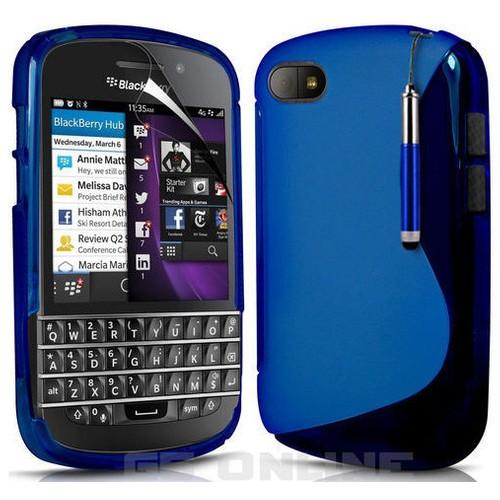 CoverZone BlackBerry Q5 Kılıf Silikon Mavi