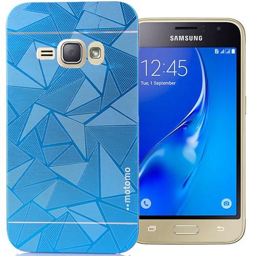 CoverZone Samsung Galaxy A7 Kılıf Metalik Sert Arka Kapak Prizma Desen Mavi